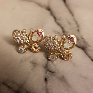 Jewelry - Crystal Butterfly Earrings